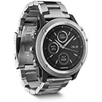 Garmin fenix 3 GPS-Multisportuhr - Smartwatch-, Navigations- und Sportfunktionen, GPS/GLONASS, 1,2 Zoll (3cm) Farbdisplay