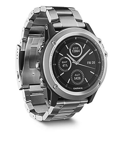 Garmin Fenix 3 Sapphire GPS Multisport Watch with Outdoor Navigation and Titanium Band - Black/Titanium