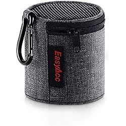 EasyAcc Housse pour Anker SoundCore Mini/August MS425 Haut-Parleur Portable/EasyAcc Mini Enceinte Bluetooth, Sac de Voyage Premium, Étui de Protection avec Mousqueton et Fermeture Éclair, Gris Foncé