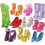 Bluelans Lot de 10paires de chaussures assorties pour poupée Barbie Différents styles