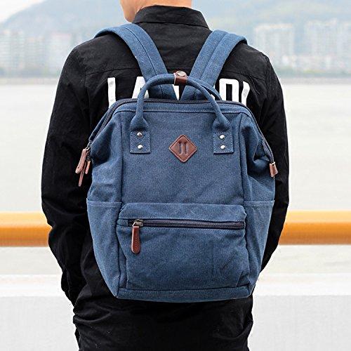 Outreo Schulrucksack Herren Rucksäcke Freitag Tasche Vintage Rucksack Weekender Daypack Schultaschen Sporttasche Reiserucksack Backpack für Reisetasche Retro Bag Canvas Schwarz