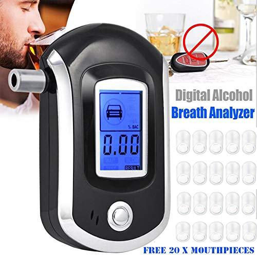 Towinle alcoholemia Profesional respiración Medidor de Alcohol Alcoholímetro Digital con Sensor Semiconductor...