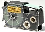 CASIO EZ-Label Printer XR-18GD1 Schriftband selbsthaftend 18 mm x 8,0 m schwarz auf gold