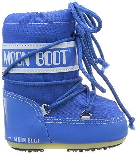Moon Boot Mini Nylon, Chaussures bébé mixte enfant Bleu (Azzurro)