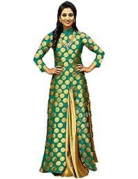 ea6986f486 Amazon.in: Green - Lehenga Cholis / Ethnic Wear: Clothing & Accessories