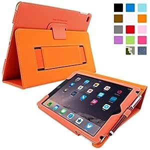 Étui iPad Air, Snugg™ - Coque de Protection Orange, Style Smart Case Avec Garantie à Vie Pour Apple iPad Air (iPad 5)