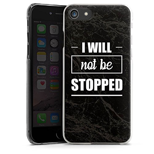 Apple iPhone X Silikon Hülle Case Schutzhülle Stop Workout Fitness Hard Case transparent