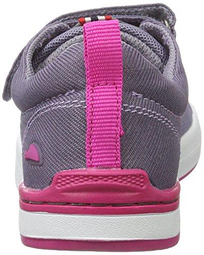 Viking - Frogner, Scarpe sportive outdoor Unisex – Bambini Violett (Grey/Magenta)