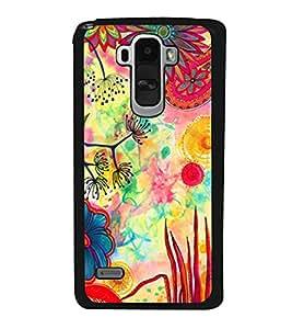 Colourful Flower Pattern 2D Hard Polycarbonate Designer Back Case Cover for LG G4 Stylus