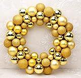 Queta Weihnachtskugeln Baumschmuck Weihnachtsbaum Weihnachtskugeln Set 55pcs Weihnachtsball Girlande für Weihnachten Dekoration (Golden)