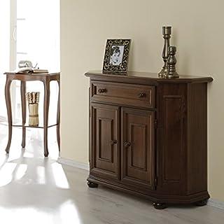 Albero Möbel Kredenz II Verona nussbaum antik gebeizt Anrichte/Kommode