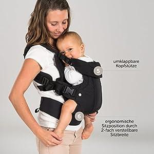 Fillikid – Mochila portabebés ergonómica 4 en 1 – Múltiples posiciones, crece con el niño, ajustable – para recién…
