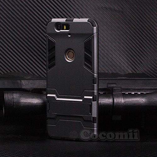 Cocomii Iron Man Armor Huawei Nexus 6P Hülle [Strapazierfähig] Taktisch Griff Ständer Stoßfest Gehäuse [Militärisch Verteidiger] Ganzkörper Case Schutzhülle for Huawei Nexus 6P (I.Gray)