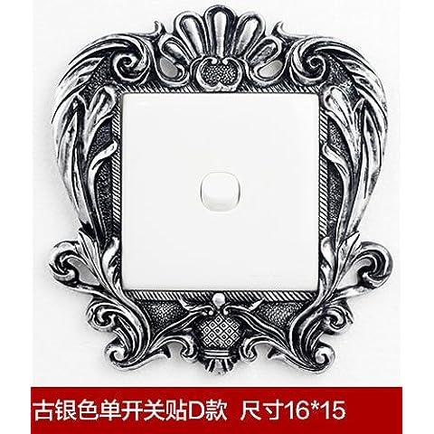 CAC Resina creativo interruttore luce adesivi Surround sticker murale,copertura interruttore,antica d