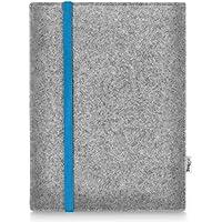 Stilbag maßgeschneiderte Tablet-Hülle LEON | Farbe: hellgrau-blau | Tablettasche aus Filz | Tablet Schutzhülle | Tasche Made in Germany
