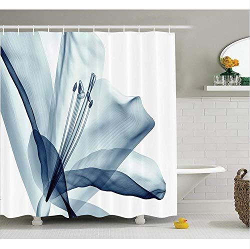 Hhyspa tenda da doccia a fiore uno sguardo da vicino a una composizione di fiori con effetto natura immagine opera d'arte stampa decorazione da bagno in tessuto con ganci 71x71 inch