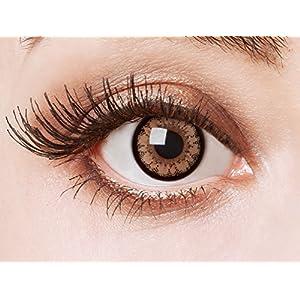 aricona Farblinsen farbig braune Cosplay Kontaktlinsen – Natürliche Circle Lenses für den Big Eyes Effect, haselnussbraune farbige Jahreslinsen, Linsen für Anime & Manga Looks, für helle Augenfarben