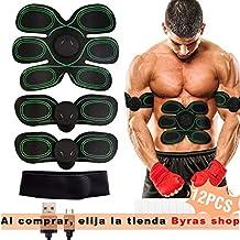 WiMiUS Electroestimulador Muscular Abdominales Cinturon Electroestimulador Muscular, USB Recargable, 10 Niveles & 8 Modos