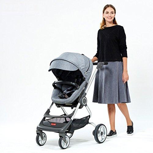 LL Kinderwagen Reise-System-Kinderwagen-hoher Landschafts-Spaziergänger-Leichter stützender Spaziergänger, der Jungen Zwei-Wege faltet (Farbe : E)