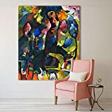 LIEFENGDAO Abstrakte Wandkunst Bilder Für Wohnzimmer Wohnkultur Öl Leinwand Kunst Bild Mit Einem Bogenschützen Wassily Kandinsky, 20X22