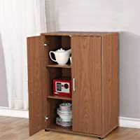 Hout Town Engineered Wood Free Standing Cabinet for Kitchen/Hall/Stairs (Finish Color - Walnut & Cherry Brown)