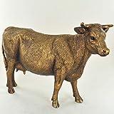 Prezentscom Bronze-Skulptur, Kuh, Bauernhof, Geschenk, perfekte Statue für Landhausdekoration, H10 cm