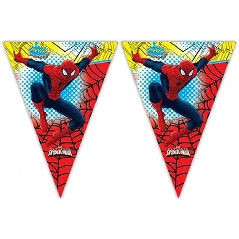 Amscan - Banderín para fiestas, diseño de Spiderman