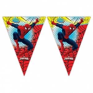 Banderole de décoration à fanions plastique Ultimate Spider-Man Marvel - 2,3m