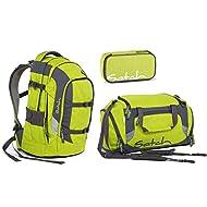 Satch Pack-Sac à dos d'écolier Kit 3pièces Ginger Lime (Trousse et sac de sport)