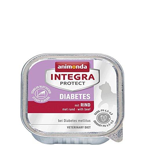 animonda Integra Protect Diabetes mit Rind | Diät Katzenfutter | Nassfutter bei Diabetes mellitus (16 x 100 g)