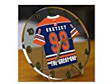 WAYNE GRETZKY LE GRAND - HORLOGE DE TABLE HOCKEY SUR GLACE EDMONTON OILERS NHL ICE HOCKEY - EDITION LIMITEE LES LEGENDES DU SPORT
