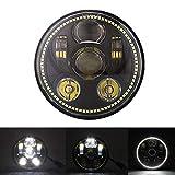 5–3/414,6cm Round Daymaker 45W Angel Eyes Halo Phare LED Lampe pour Harley Davidson Moto