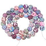 PandaHall Polymer Ton Perlen Polymer Clay Beads, Rund, 8mm in Durchmesser, Gemischte Farbe