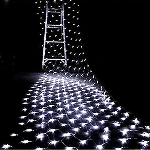 E-Beshiny Filet lumineux à LED de 2 x 3 mètres et comprenant 200 ampoules Lumières décoratives pour Noël fête de mariage ou pour maison hôtel bar ou festival 8 fonctions télécommandées 4 couleurs