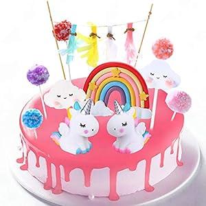 DERU Cake Topper Unicornio, Decoración