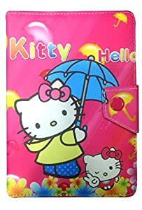 Celkon CT744 Pink Hello Kitty Tablet flip Cover by Corcepts