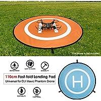 110 centimetri Landing Pad universale FPV Drone parcheggio grembiule impermeabile pad per DJI Spark Mavic FPV Racing Drone elicottero (Colore: arancione e blu)