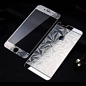 WebKreature Silver Front & Back Mirror 3d Diamond Tempered Glass for Apple Iphone 6 / 6S