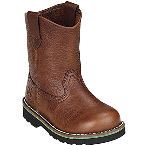 John Deere Boys Girls Brown Leather Western Style Boots Baby