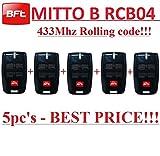 5 X BFT Mitto B RCB04 R1 handsender 4-kanal 433.92Mhz fernbedienung. Rolling code!!! Die neue Version von BFT Mitto4. 5 Stücke für den besten Preis!!!