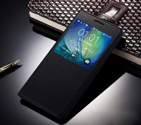 SmartLike Leather Window Premium Flip Cover for Samsung Galaxy Note 3 SM-N900