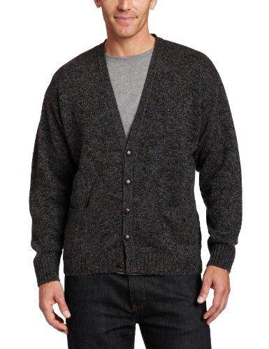 Pendleton Herren Strickjacke, Sweater Gr. XL (US Größe), Charcoal Marl (Strickjacke Shetland Wolle)