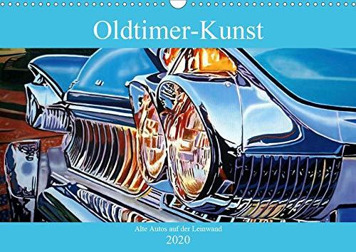 Oldtimer-Kunst - Alte Autos auf der Leinwand (Wandkalender 2020 DIN A3 quer): Künstlerische Darstellungen von Oldtimern auf Kuba (Monatskalender, 14 Seiten ) (CALVENDO Kunst)