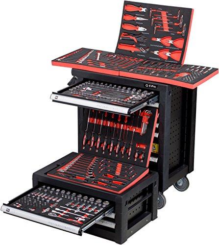 Carro de herramientas con 9 cajones, 7 cajones llenos de herramientas