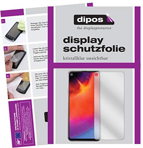 dipos I 2X Schutzfolie klar passend für Samsung Galaxy A8s Folie Bildschirmschutzfolie (bewusst Kleiner als das Glas, da Dieses gewölbt ist)