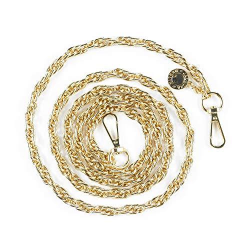 Jalouza Handykette Ersatzkette in Farbe Gold, Smartphone Spiral- Kette zum Wechseln, kombinierbares Handy Necklace zum Umhängen, Gliederkette - Länge 120cm