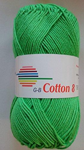 Gebraucht, G-B Wolle Cotton 8 100 % Baumwolle, Farbe:1449 neongrün gebraucht kaufen  Wird an jeden Ort in Deutschland