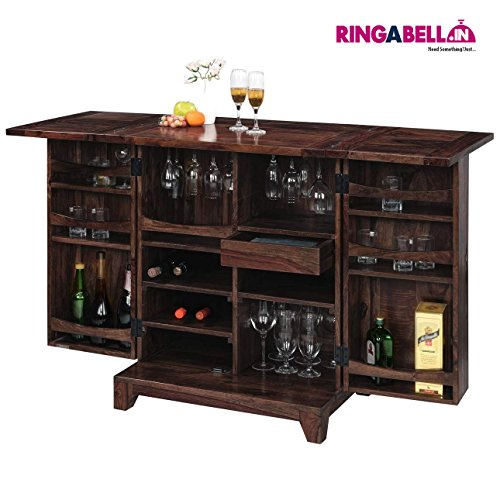 Altavista Sprit Bar Cabinet (Mahogany Finish)
