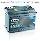 Exide Premium Carbon Boost EA530 53Ah Autobatterie (Neuestes Modell 2014/15, Preis inkl. EUR 7,50 Pfand)