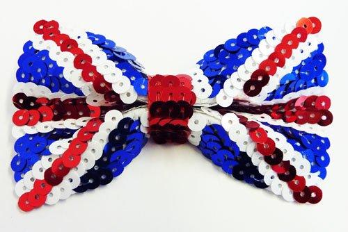 Union Jack Pailletten-Fliege Schleife-Stil, patriotische Fancy (In Für Box Erwachsene Kostüm The Jack)